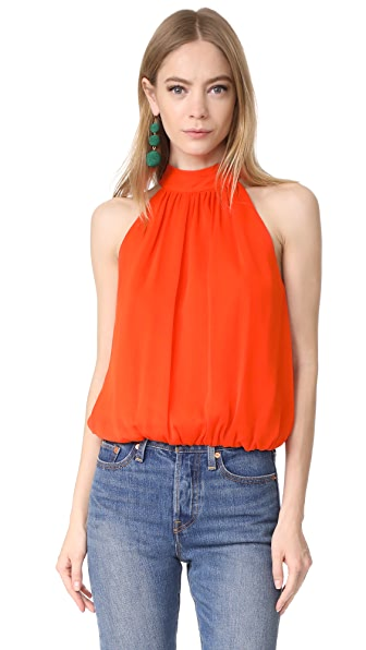 alice + olivia Maris Top - Tangerine