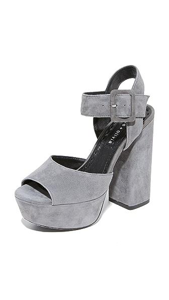 alice + olivia Lily Suede Platform Sandals