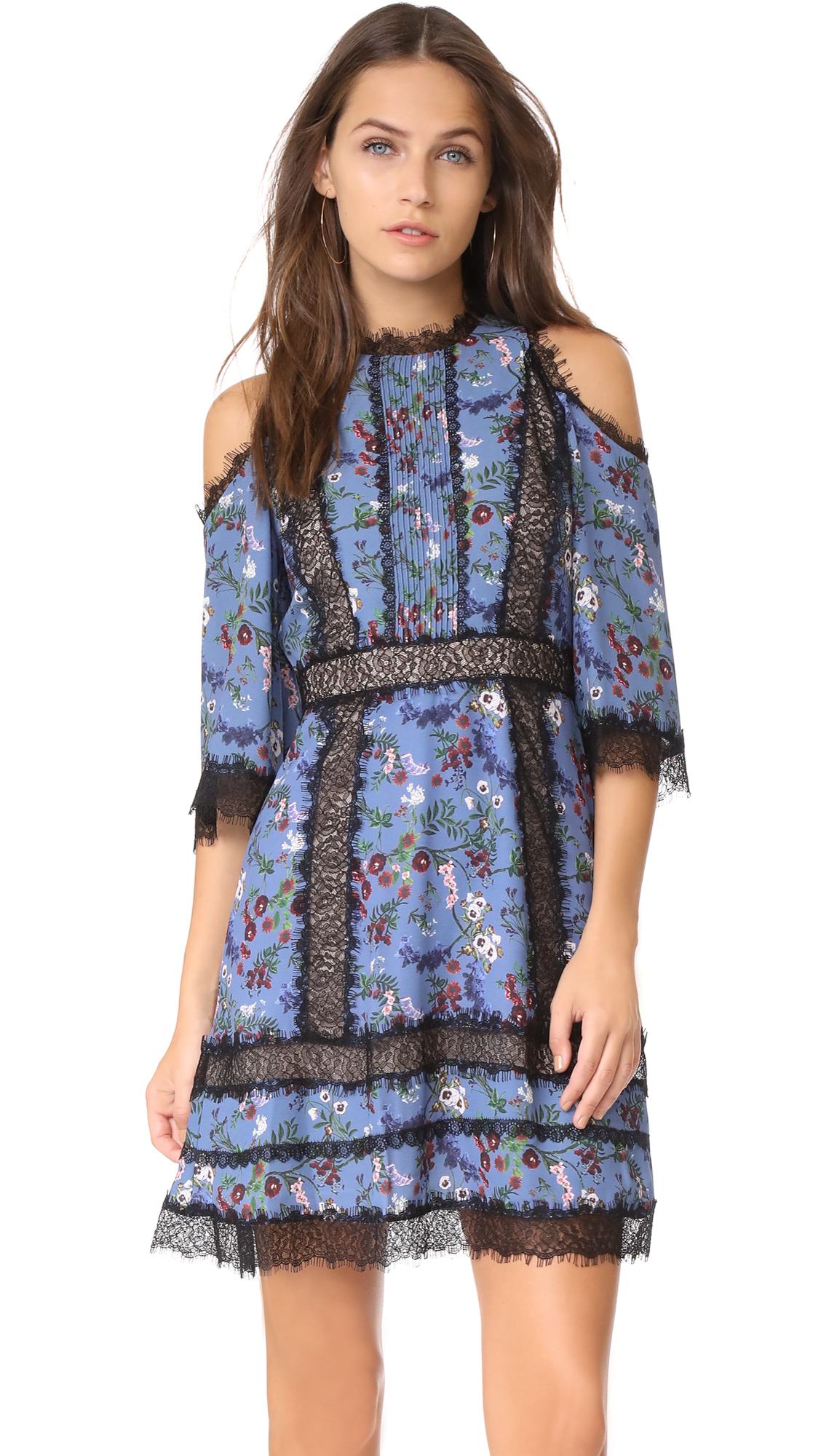 alice + olivia Gatz Cold Shoulder Dress - Garden Party