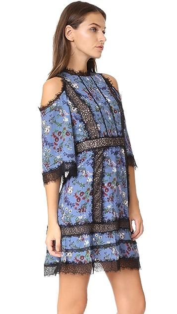 alice + olivia Gatz Cold Shoulder Dress