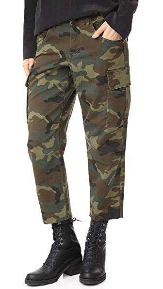 alice + olivia Johnsie Cargo Pants - Army Multi