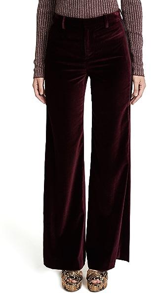 alice + olivia Paulette Tuxedo Pants In Merlot/Black