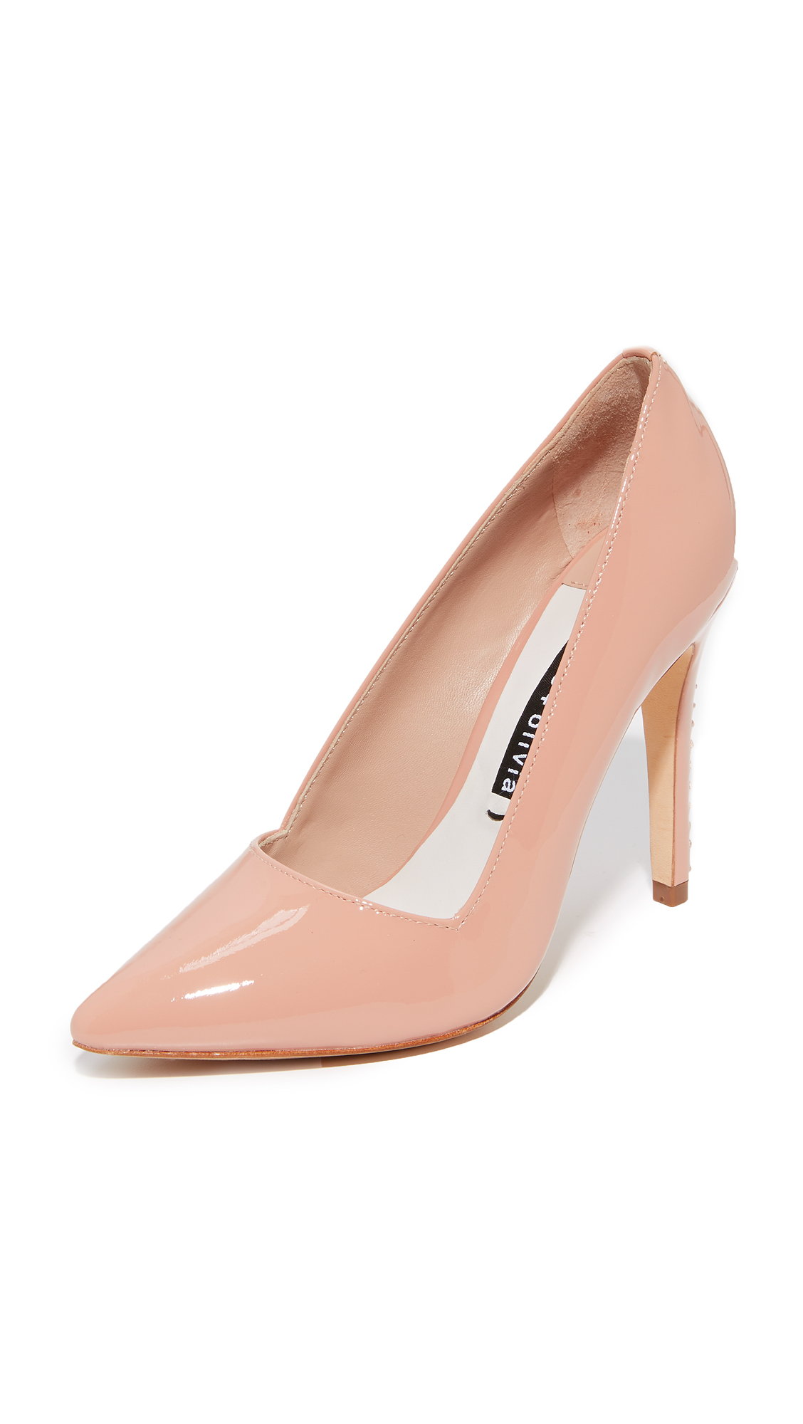 alice + olivia Dina Pumps - Rose Tan