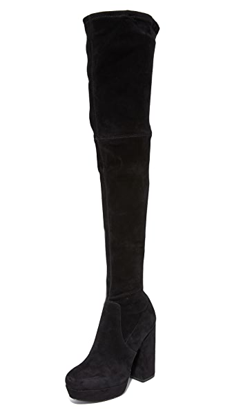 alice + olivia Hampton Thigh High Boots - Black