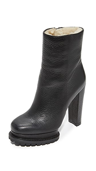 alice + olivia Holden Shearling Boots - Black
