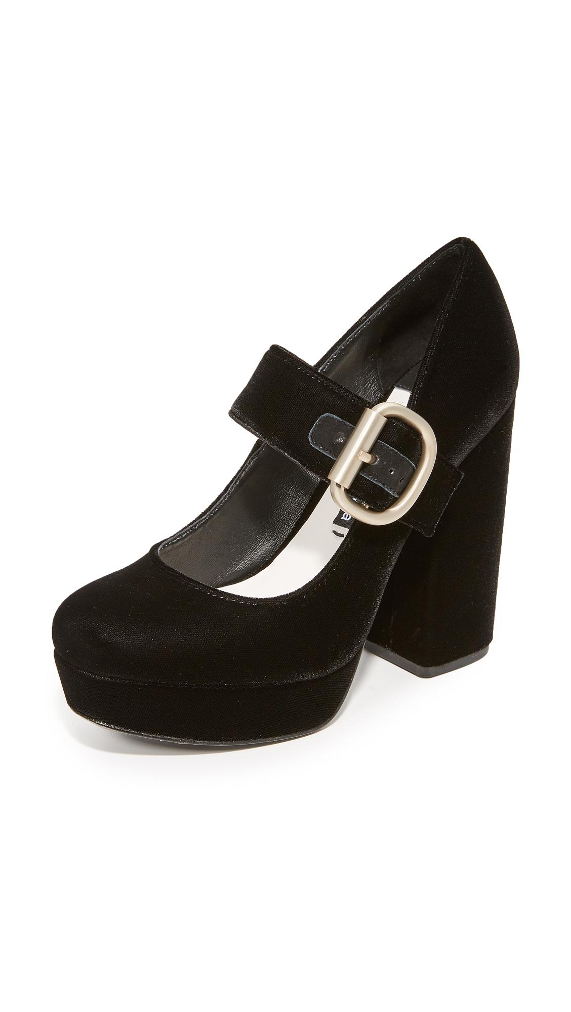 alice + olivia Houston Platform Mary Jane Pumps - Black