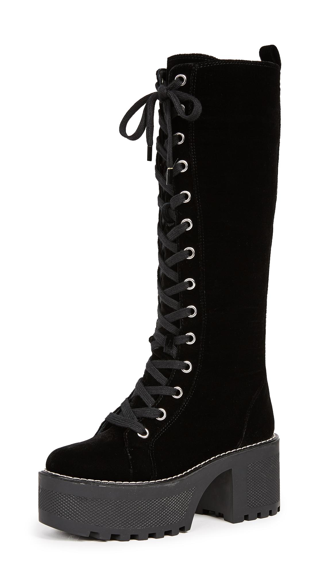 alice + olivia Raye Platform Boots - Black