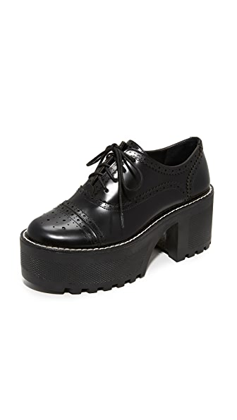 alice + olivia Ripley Platform Oxfords - Black