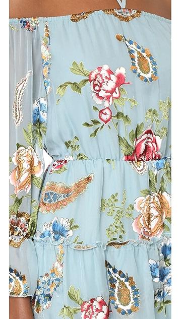 alice + olivia Waylon Blouson Sleeve Dress