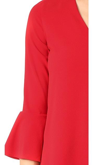 alice + olivia Tameika Trumpet Sleeve Dress