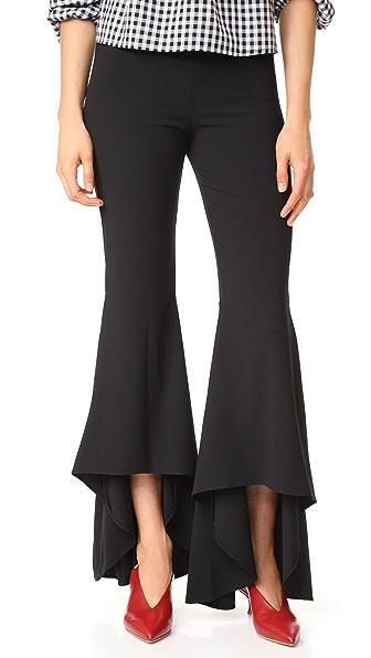 alice + olivia Jinny High Low Flare Pants