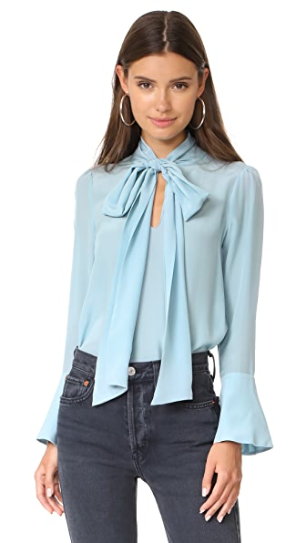alice + olivia Wesley Bow Neck Blouse