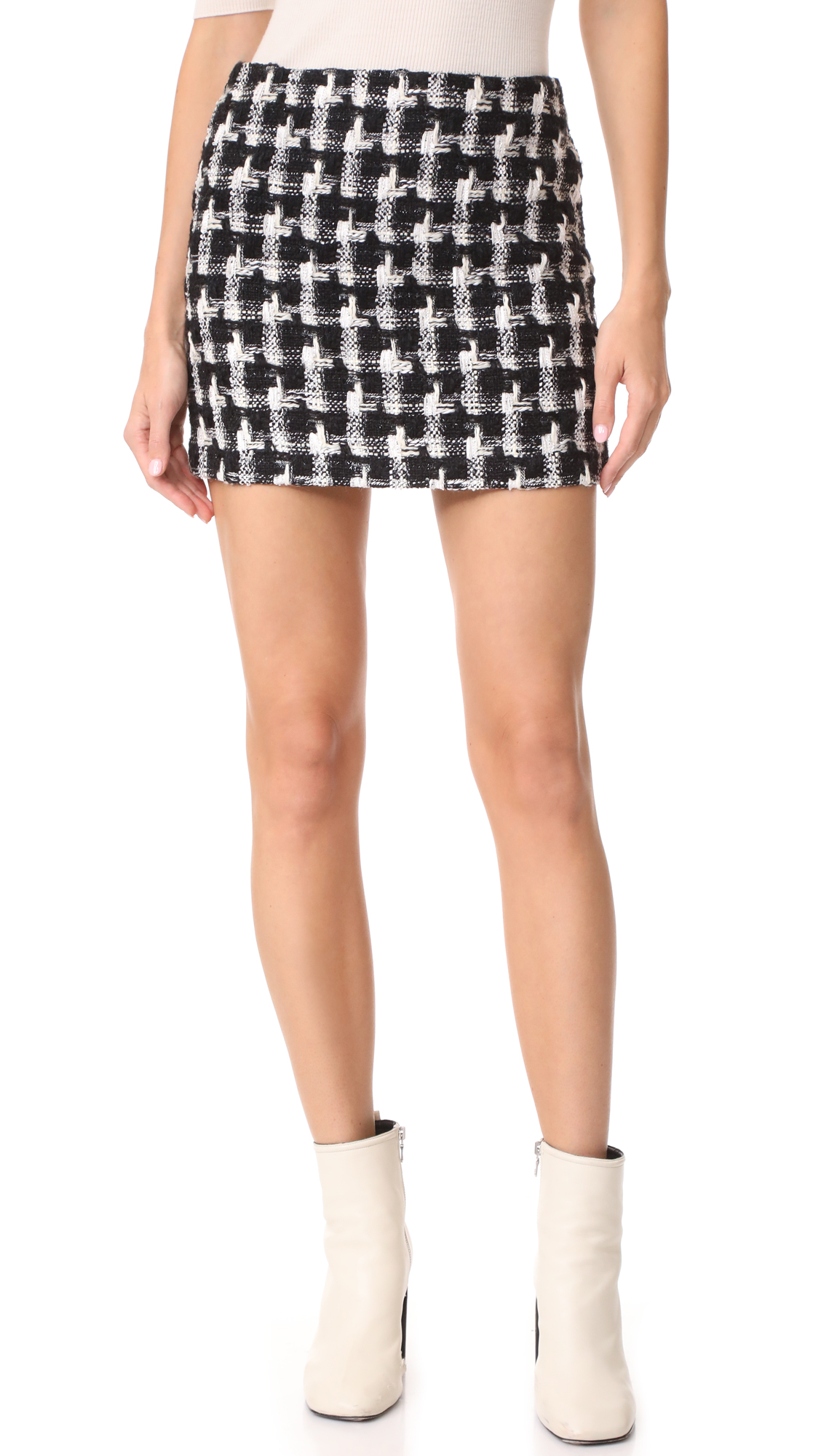 alice + olivia Elana Miniskirt - Black/White
