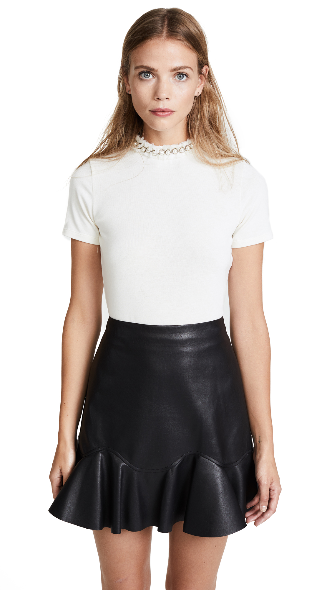 alice + olivia Jazime Crop Top - Cream