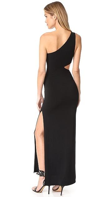 alice + olivia AIR Malia One Shoulder Maxi Dress