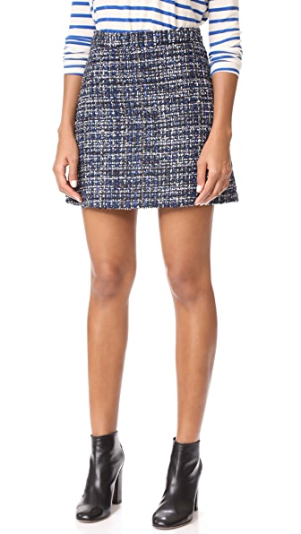alice + olivia Riley A-Line Tweed Skirt