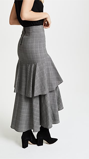 alice + olivia Martina Ruffle Skirt