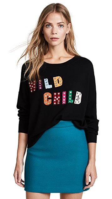 alice + olivia Bao Wild Child Batwing Pullover