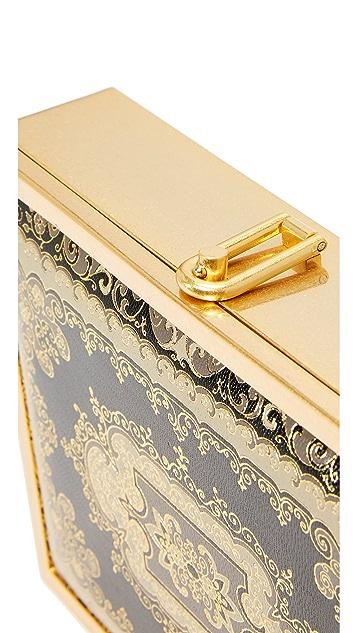 alice + olivia Darla Embossed Box Clutch