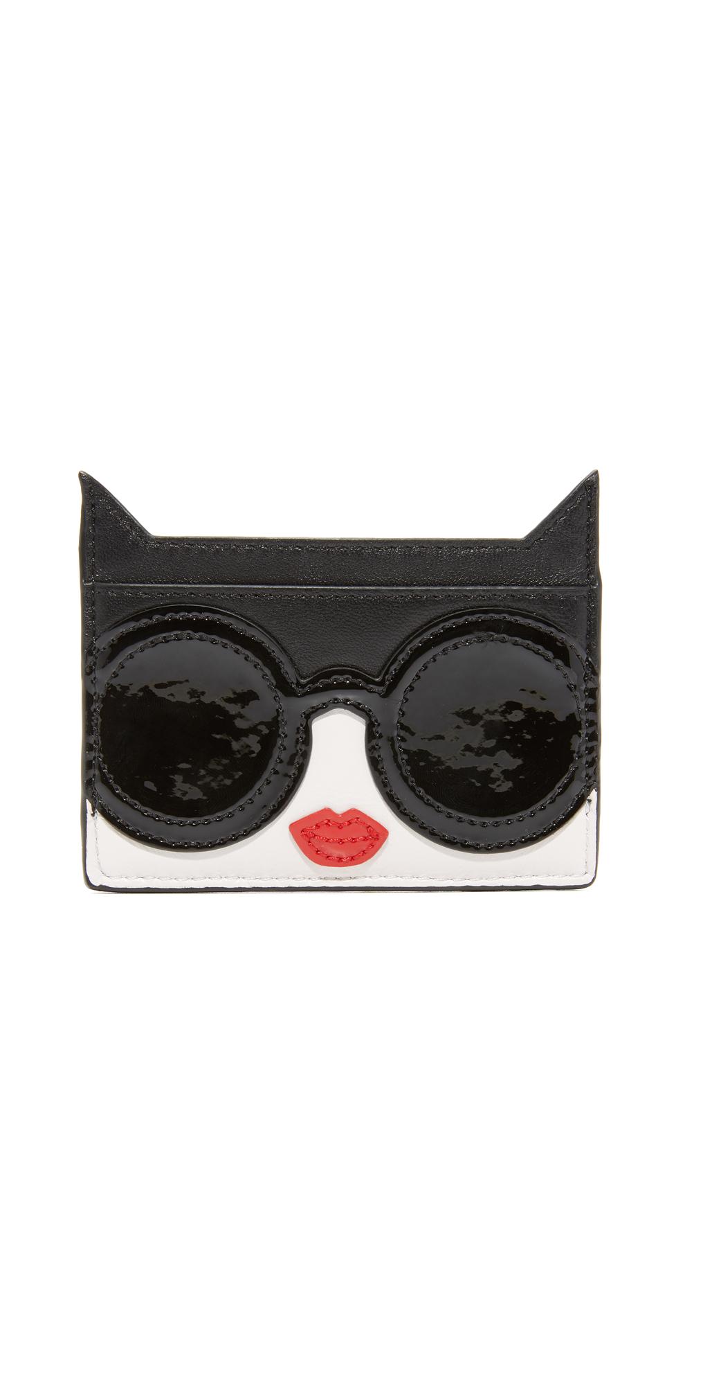 Stace Face Cat Card Case alice   olivia