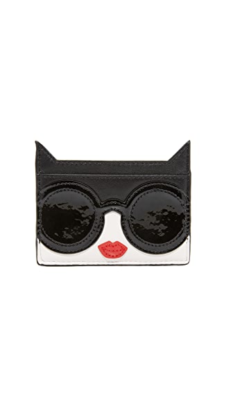 alice + olivia Stace Face Cat Card Case - Multi
