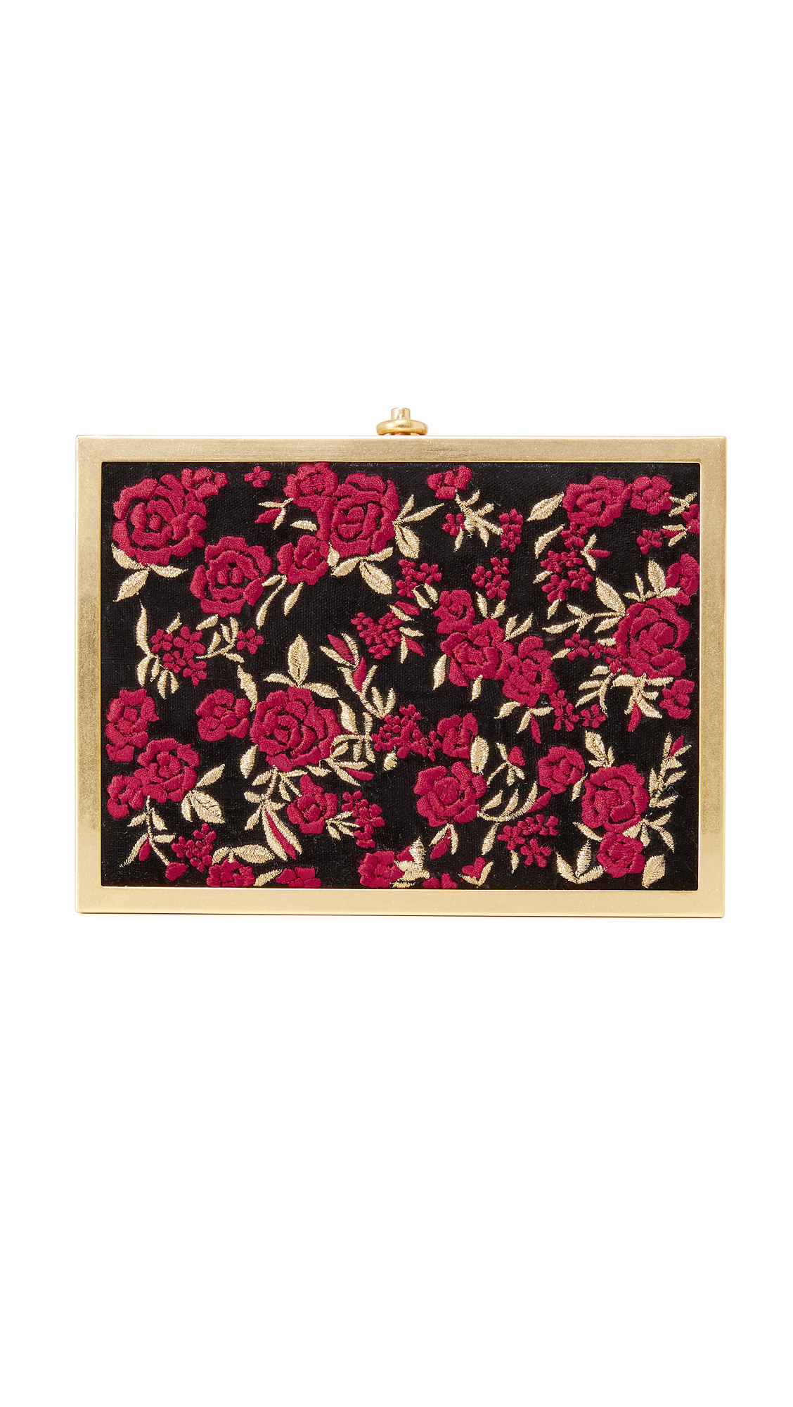 alice + olivia Darla Embroidered Box Clutch - Multi