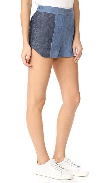 alice + olivia Madison Elastic Back Shorts
