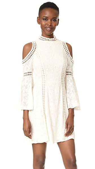 alice + olivia Enya Cold Shoulder Dress - Cream