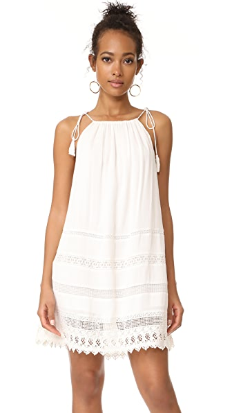 alice + olivia Danna Tie Stripe Dress - White