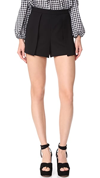 alice + olivia Larissa Shorts - Black