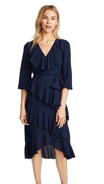 alice + olivia Kye V Neck Ruffle Dress