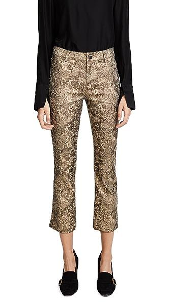 alice + olivia Tasha Cropped Pants In Gold Multi