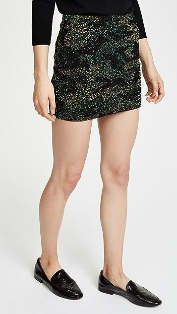 alice + olivia Elana Sequin Skirt