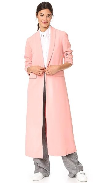 alice + olivia Angela Long Coat - Perfect Pink