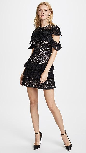 alice + olivia Jolie Ruffle Tier Dress