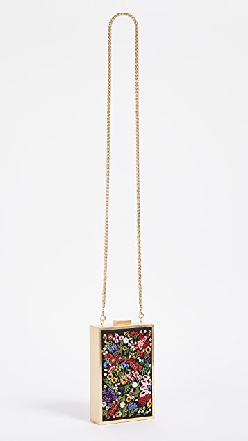 alice + olivia Sophia Flower Party North South Clutch