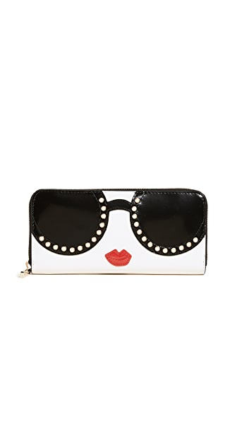 Alice And Olivia  CANDICE STACE FACE LONG WALLET