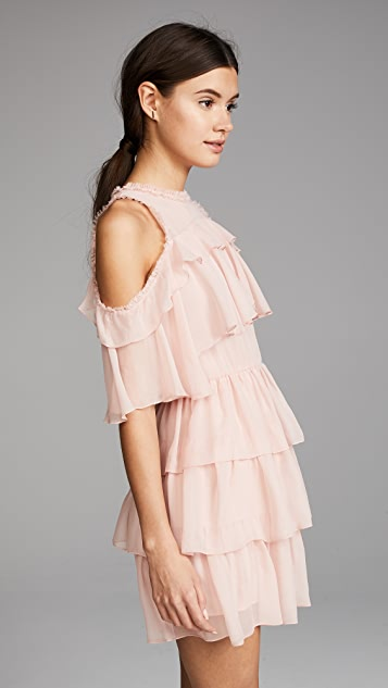 alice + olivia Nichola Ruffle Party Dress