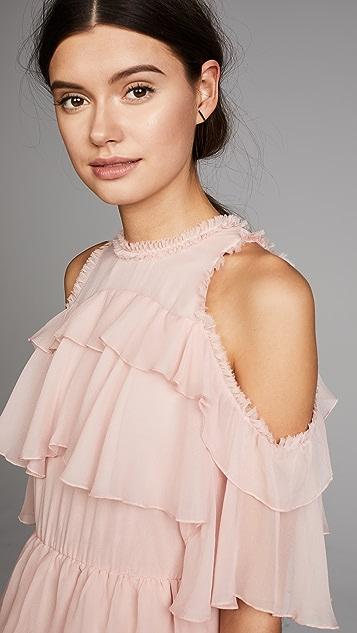 alice + olivia Nichola Ruffle Party Dress