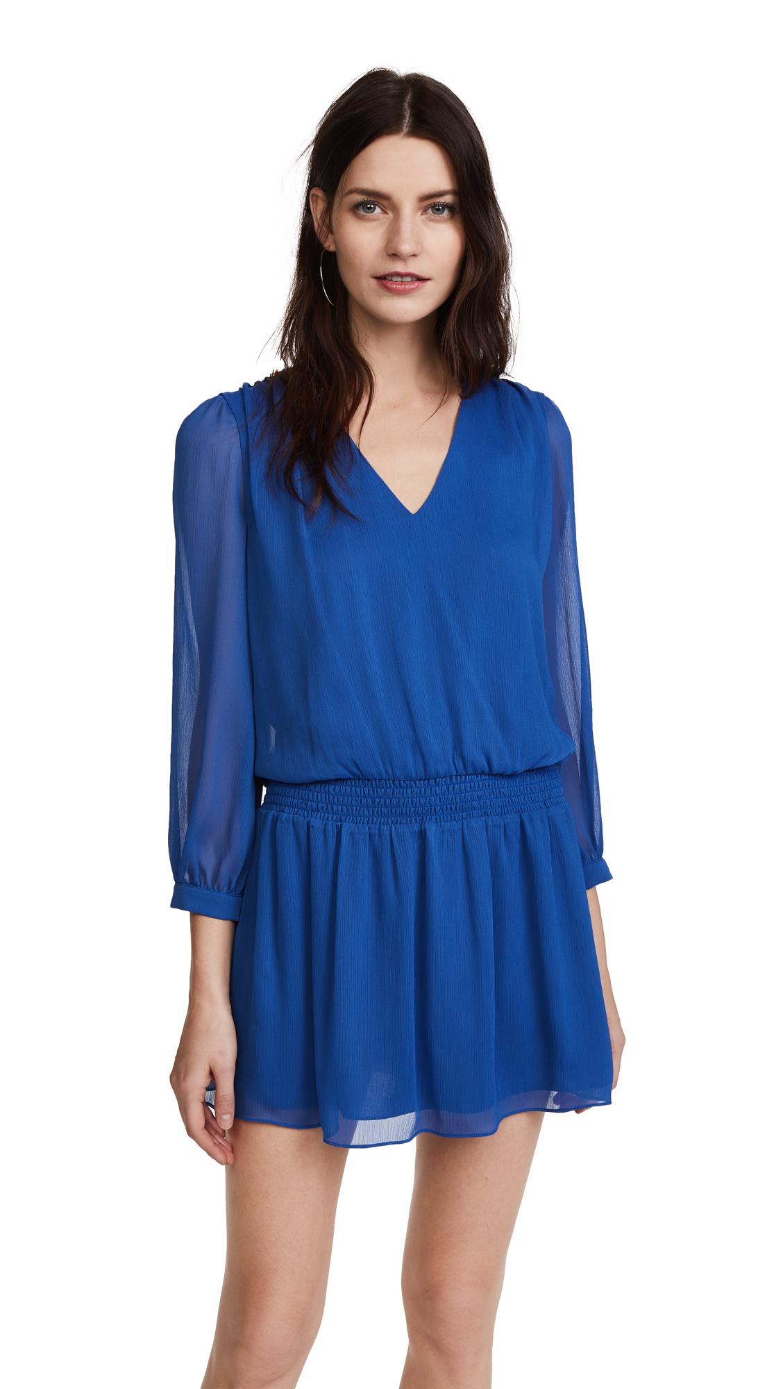 alice + olivia Adaline Smock Waist Dress