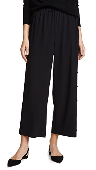 alice + olivia Benny Cutout Cropped Pants In Black