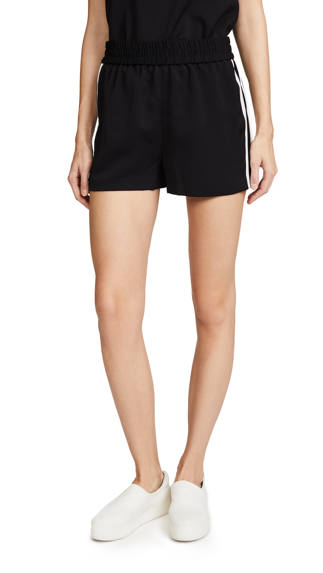alice + olivia Ludlow Side Trim Shorts - Black/White
