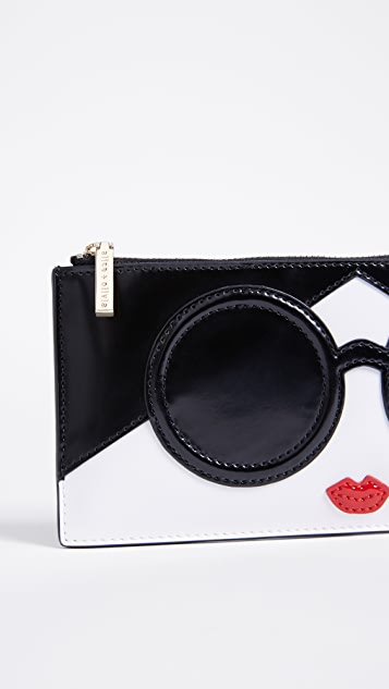 alice + olivia Carly Stace Face Long Pouch