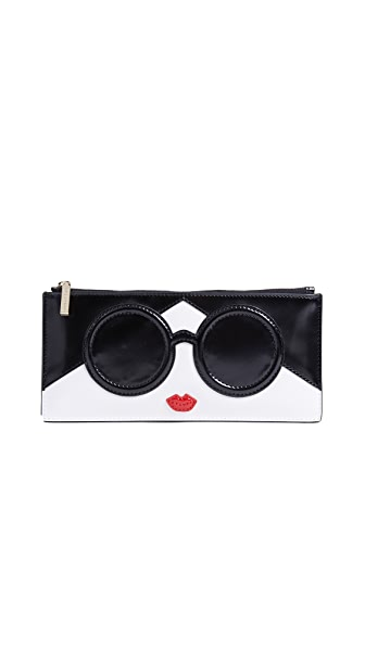 alice + olivia Carly Stace Face Long Pouch In Multi