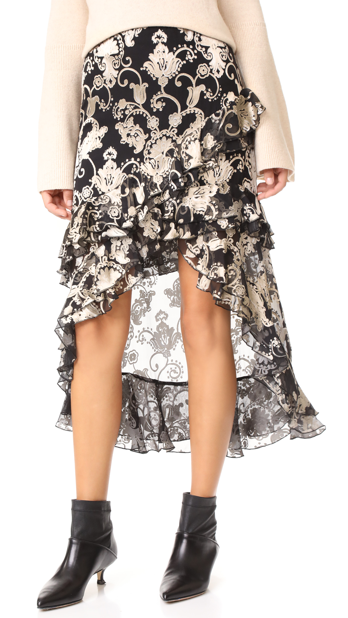 alice + olivia Sasha Skirt - Black/White