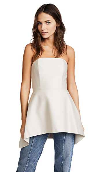 alice + olivia Duncan Strapless Top In Pale Nude