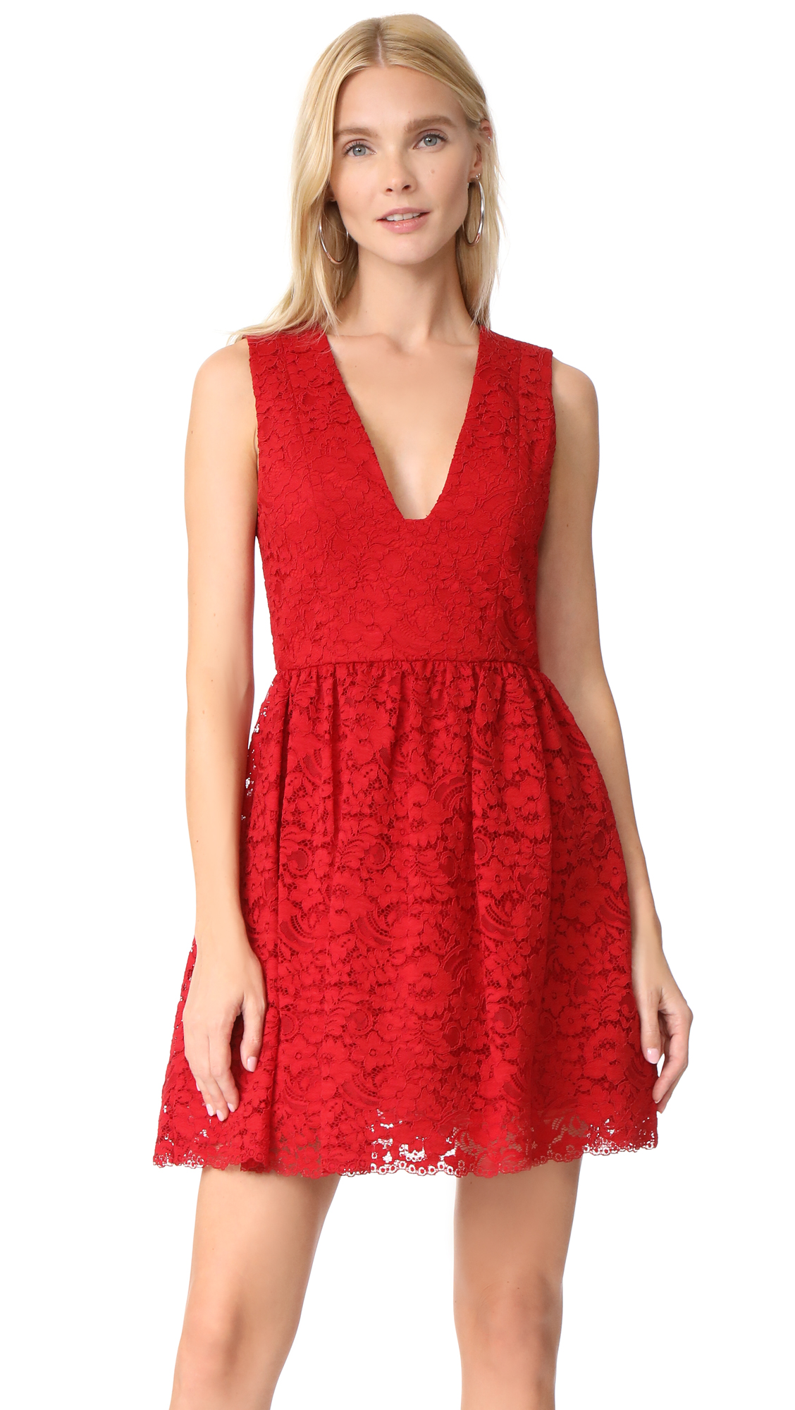 alice + olivia Kappa Party Dress - Deep Ruby