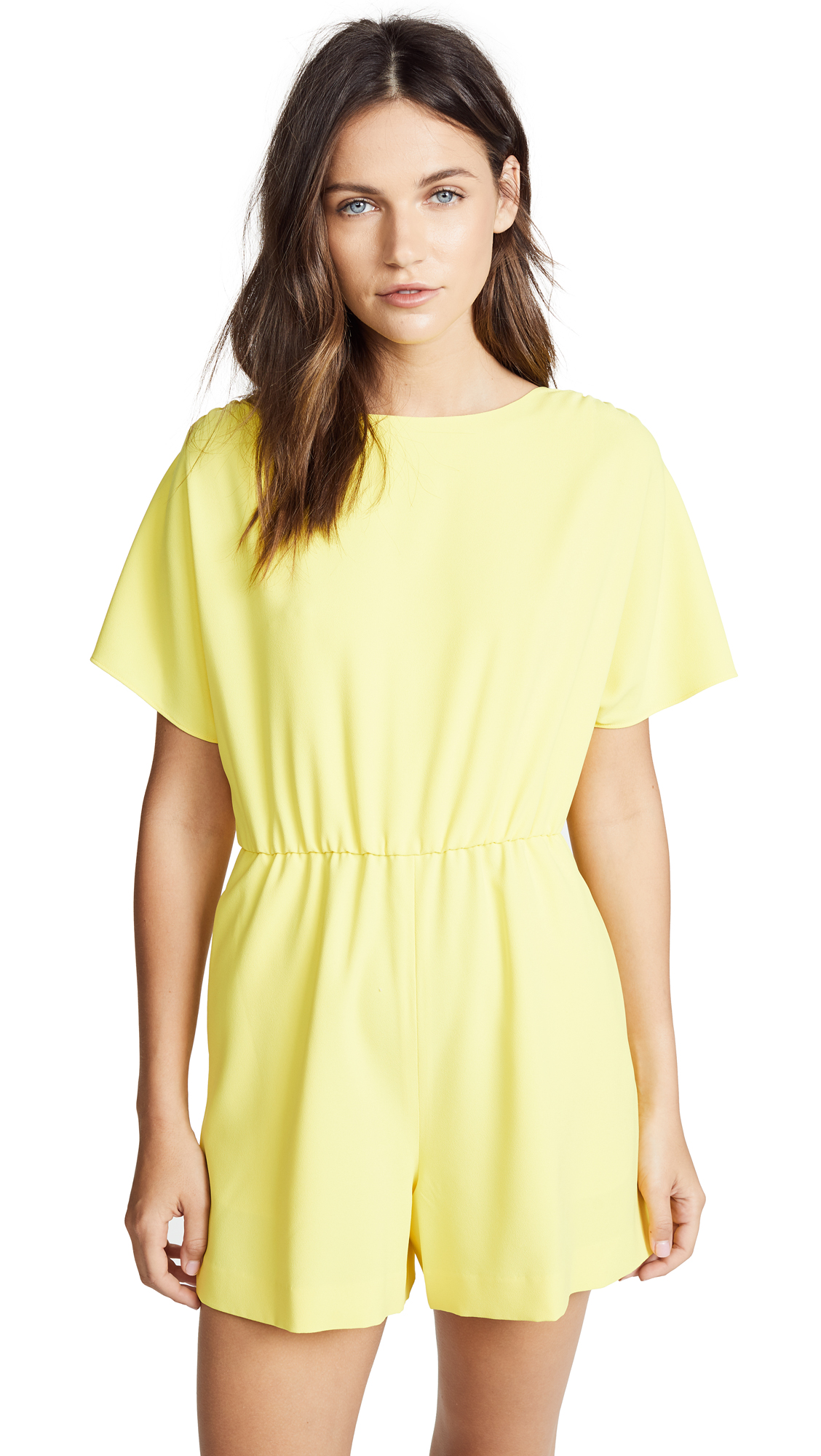 alice + olivia Ashlea Romper In Lemon