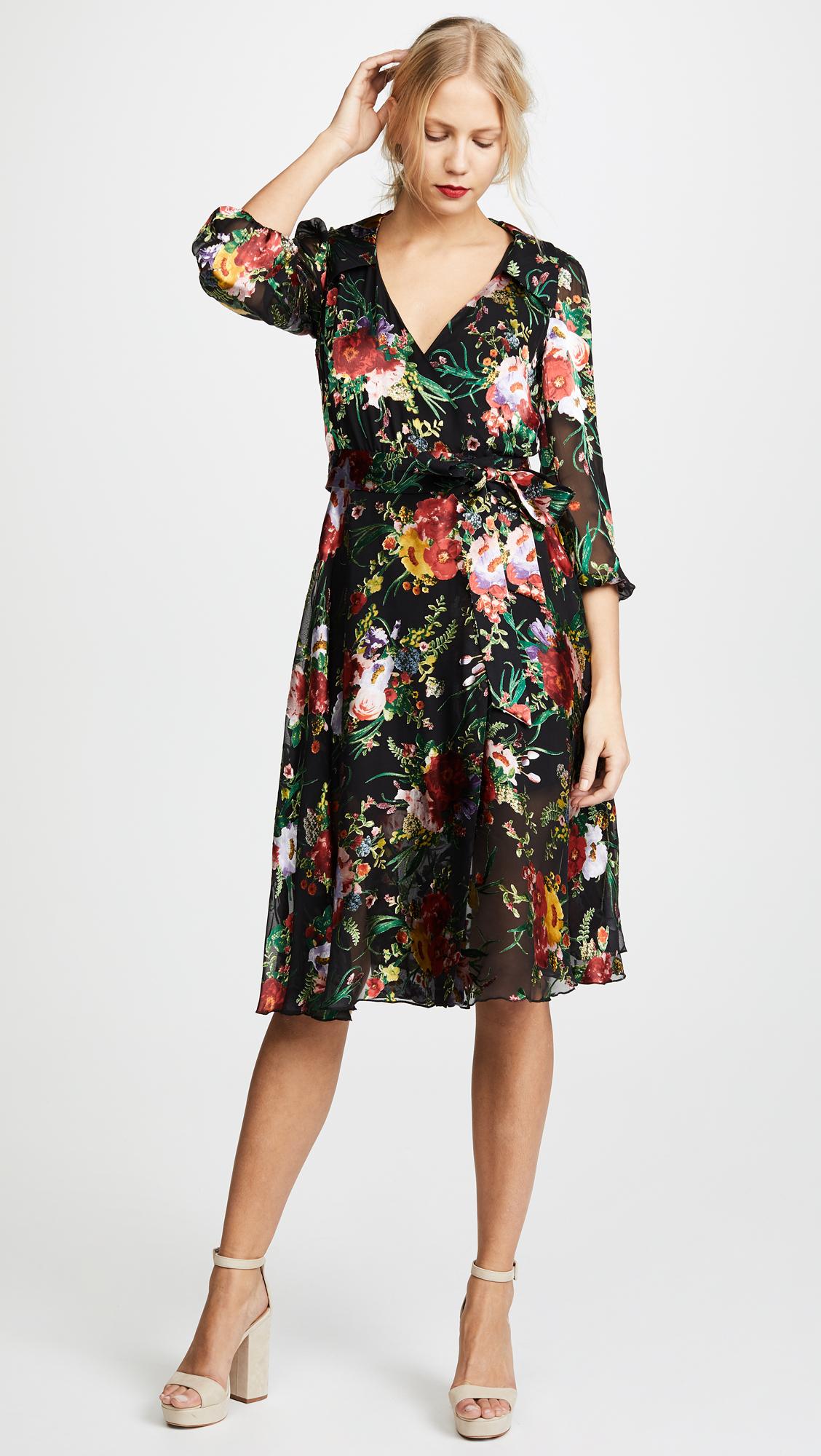 a6025b8017c Silk Wrap Shirt Dress