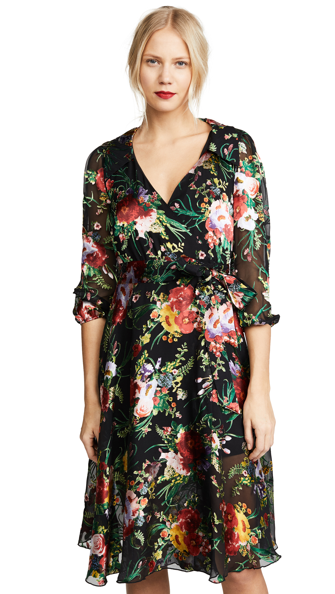 alice + olivia Abney Wrap Shirt Dress